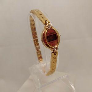 Vintage Women's Camelot Gold Tone Digital Watch
